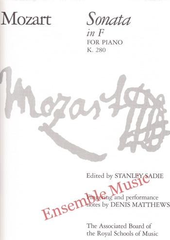 Mozart Sonata in F for Piano K 280