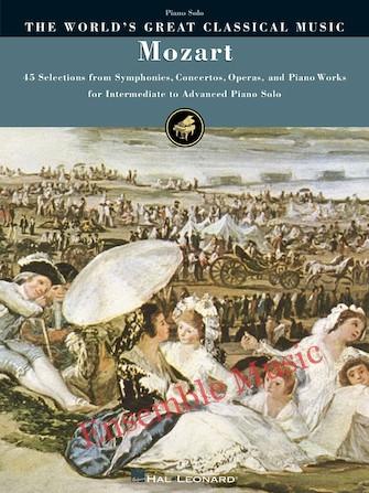 Mozart intermediate to advanced piano solo