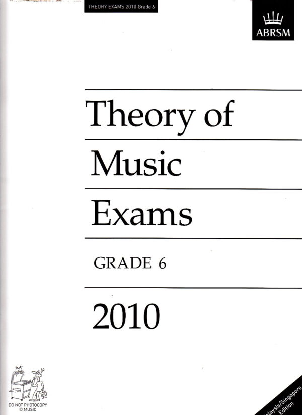 Music Theory Past Papers 2010 Gr 6 1
