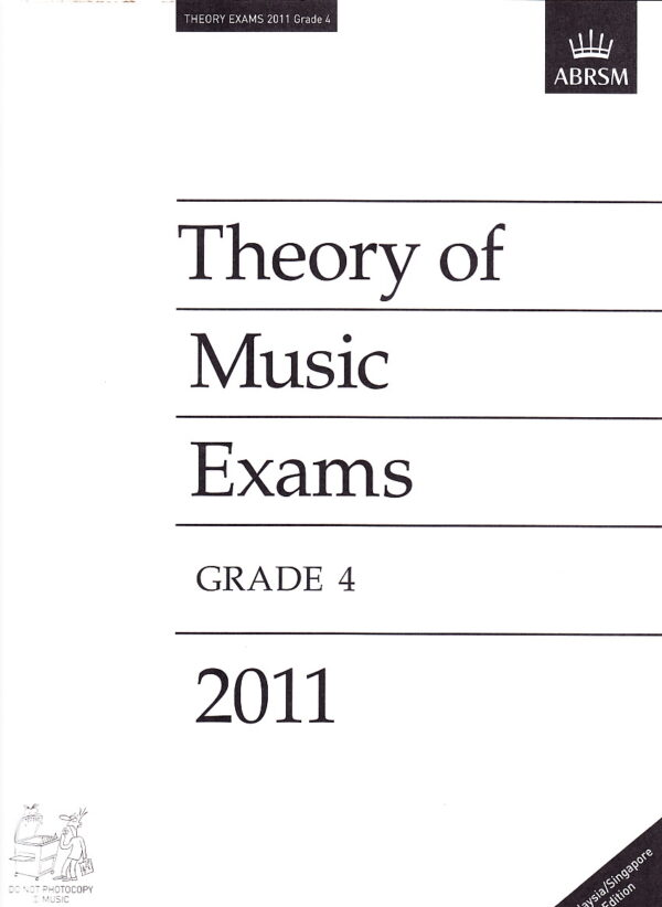 Music Theory Past Papers 2011 Gr 4 1