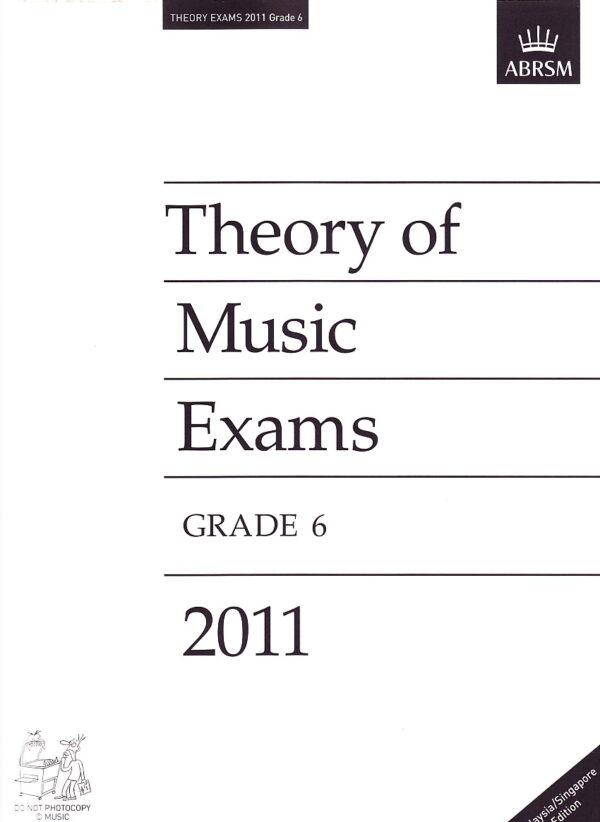 Music Theory Past Papers 2011 Gr 6 1