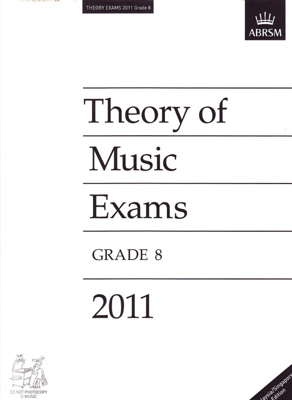 Music Theory Past Papers 2011 Gr 8