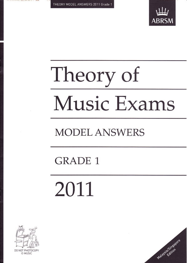 Music Theory Past Papers 2011 Model Answers Gr 1