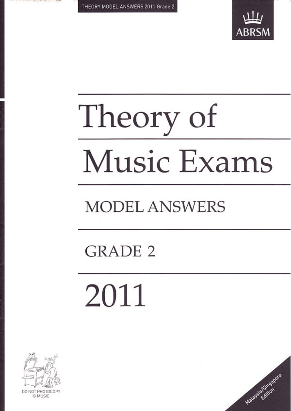 Music Theory Past Papers 2011 Model Answers Gr 2