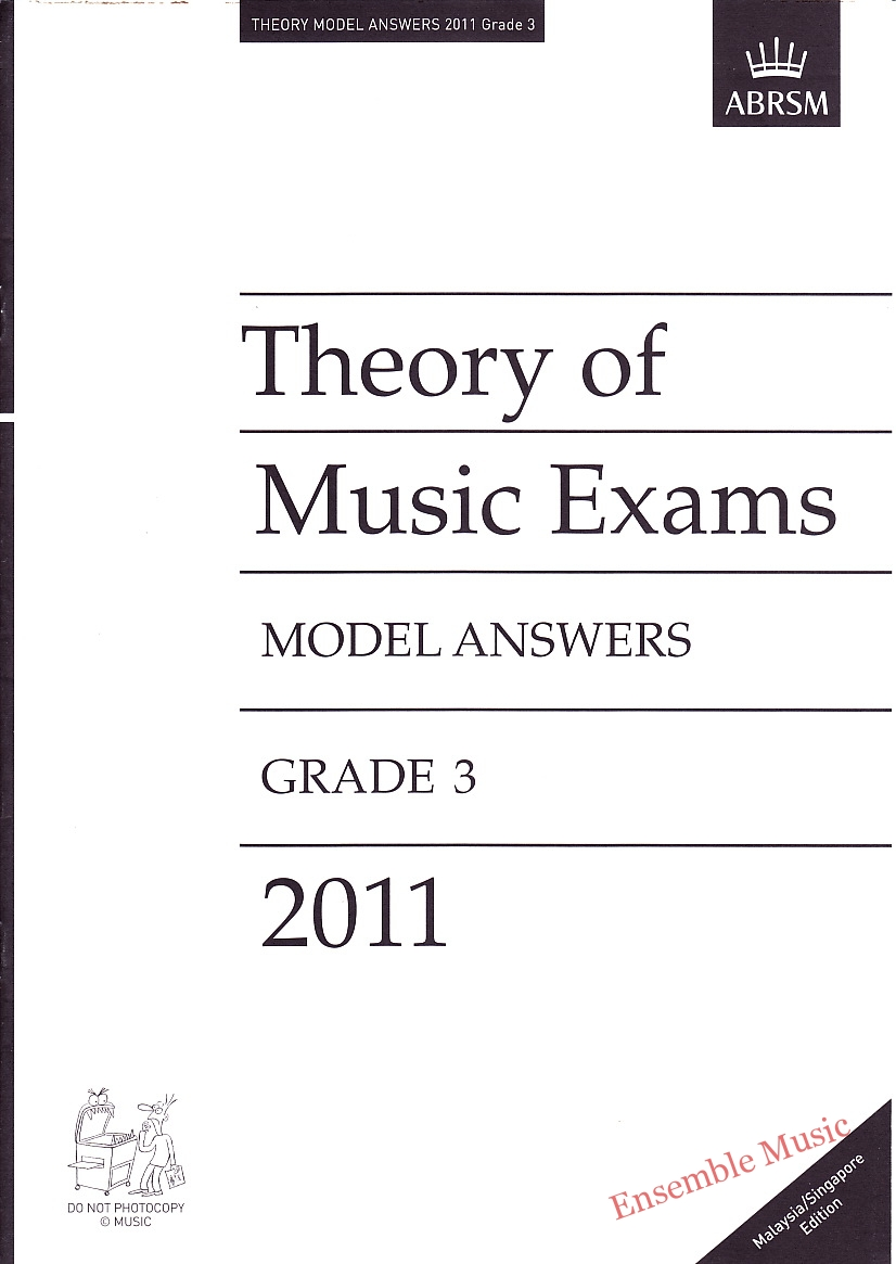 Music Theory Past Papers 2011 Model Answers Gr 3