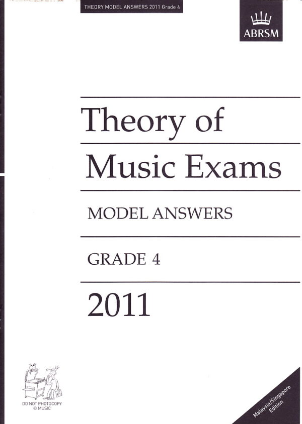 Music Theory Past Papers 2011 Model Answers Gr 4