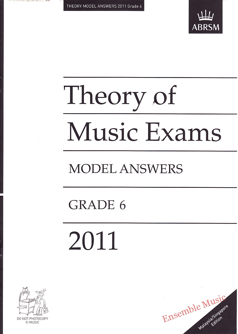 Music Theory Past Papers 2011 Model Answers Gr 6