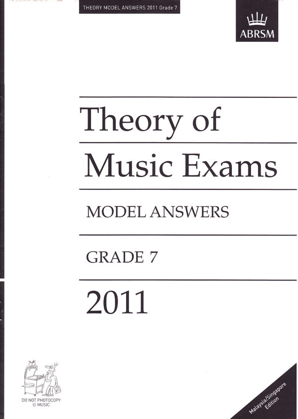 Music Theory Past Papers 2011 Model Answers Gr 7