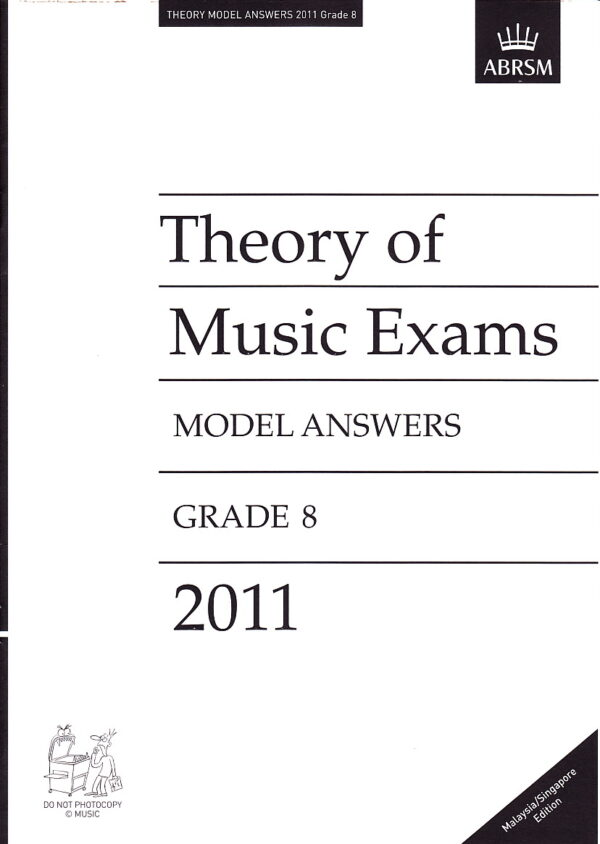 Music Theory Past Papers 2011 Model Answers Gr 8