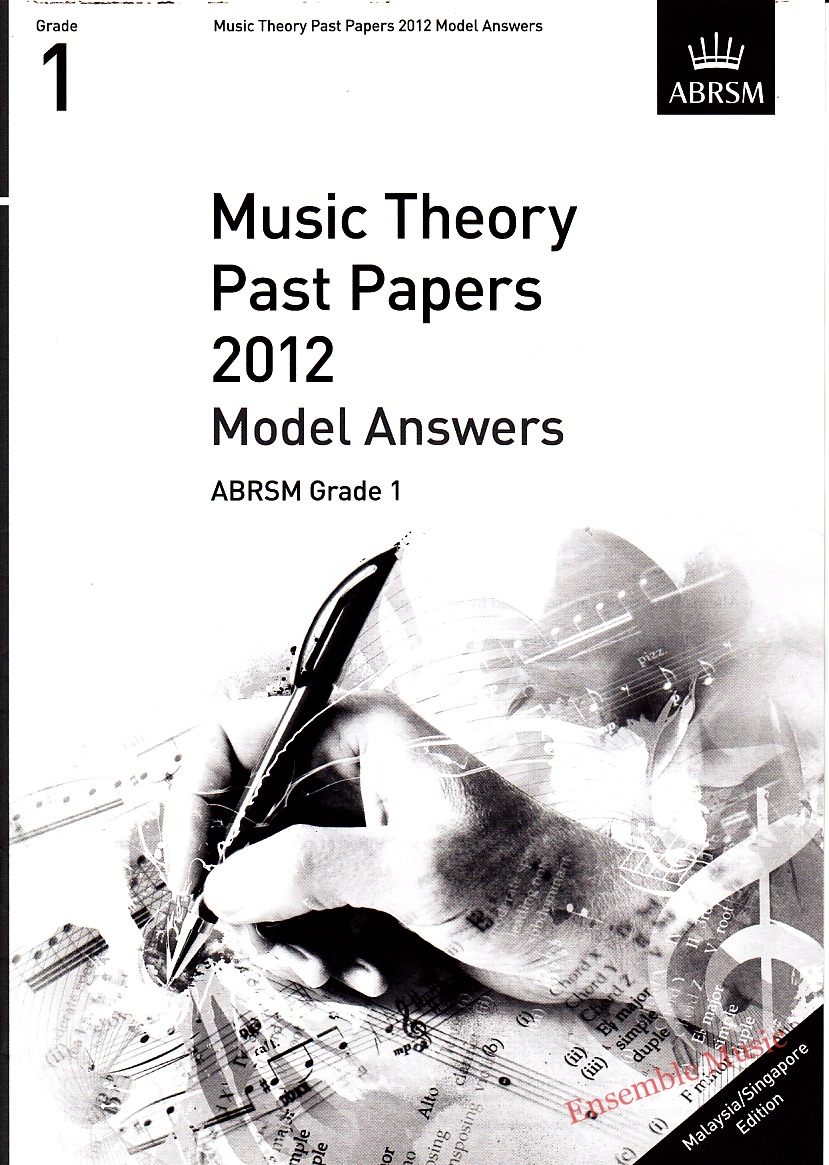 Music Theory Past Papers 2012 Model Answers Gr 1