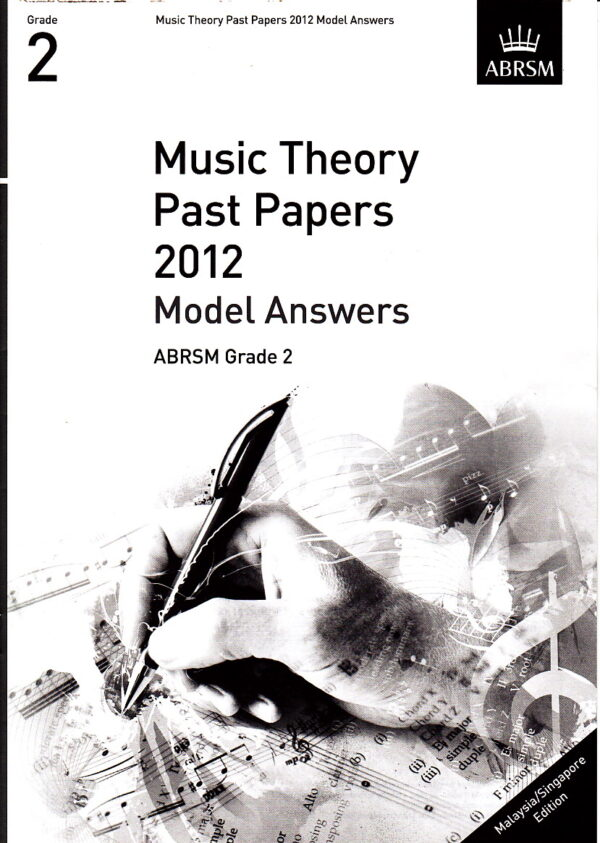 Music Theory Past Papers 2012 Model Answers Gr 2