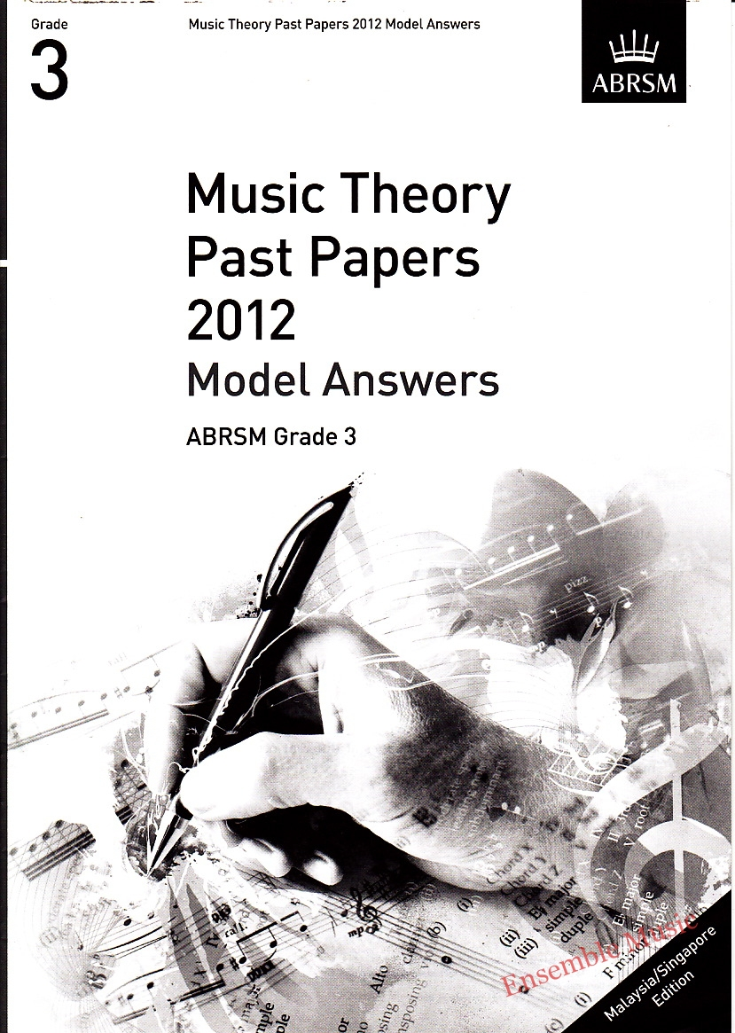 Music Theory Past Papers 2012 Model Answers Gr 3