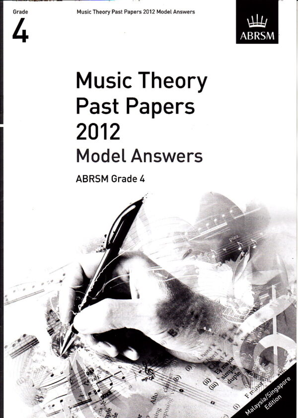 Music Theory Past Papers 2012 Model Answers Gr 4