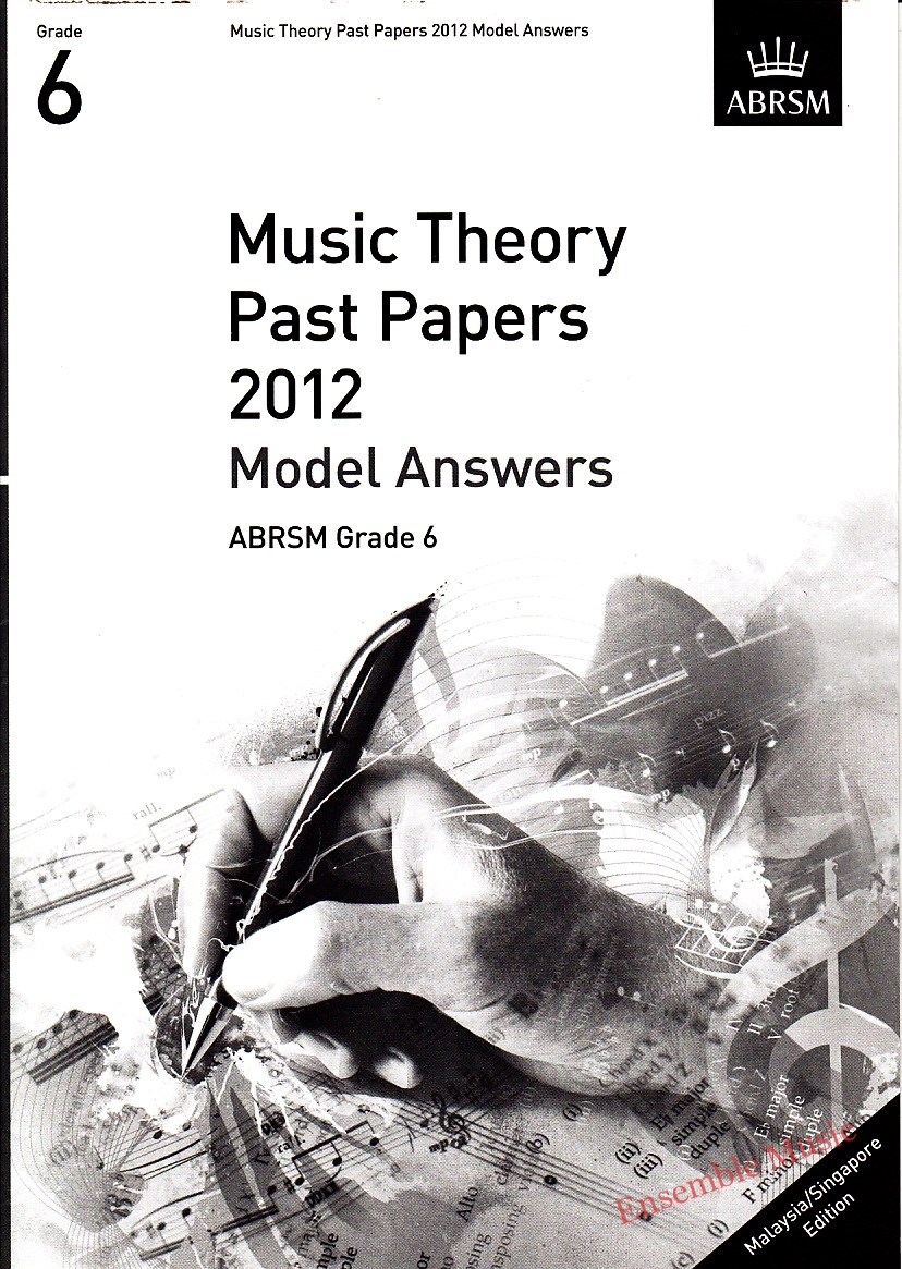 Music Theory Past Papers 2012 Model Answers Gr 6