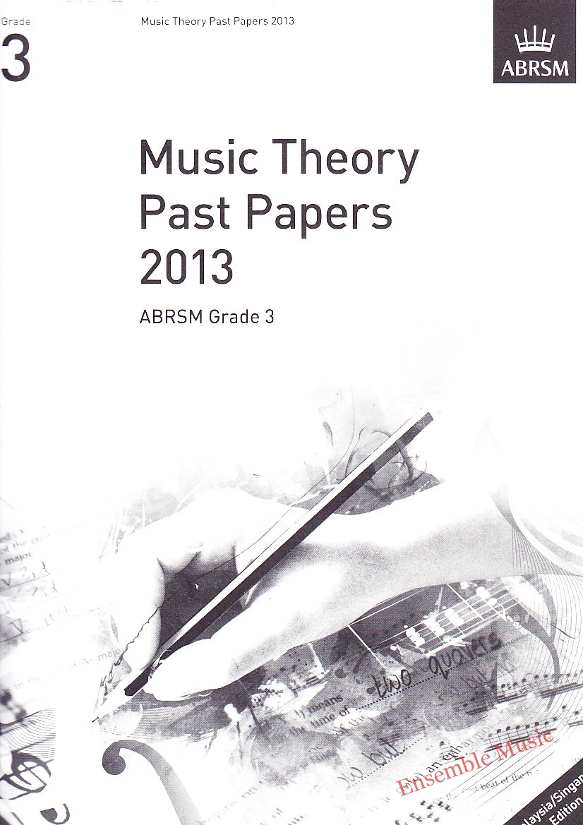Music Theory Past Papers 2013 Gr 3