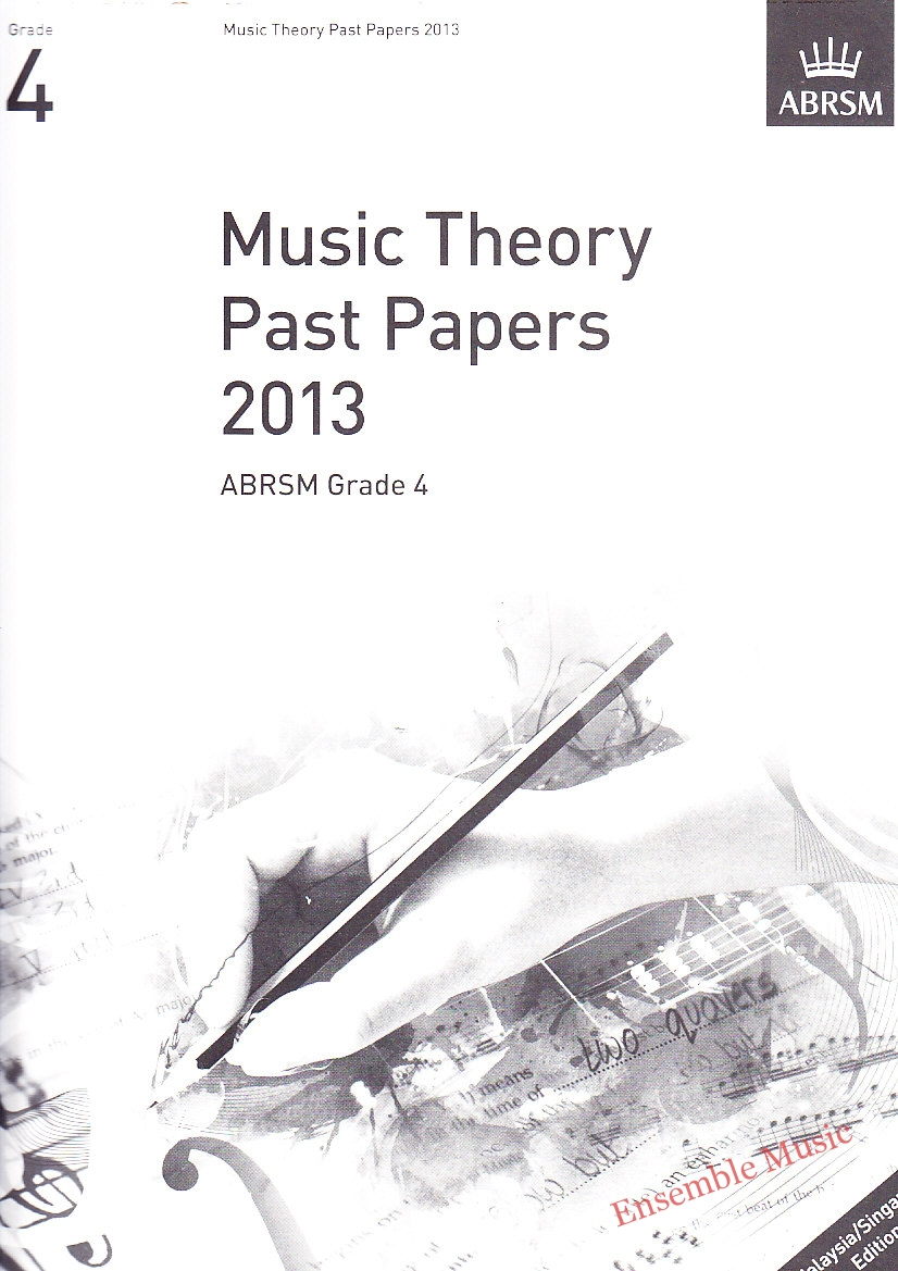 Music Theory Past Papers 2013 Gr 4
