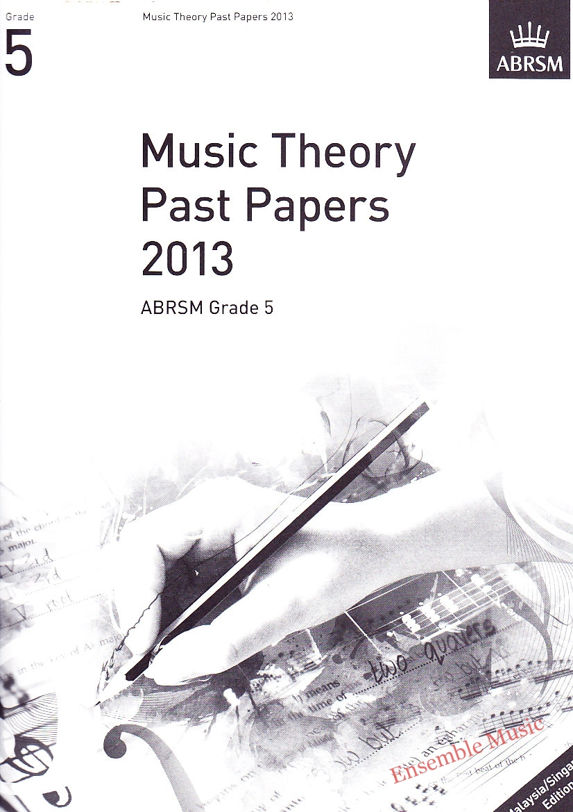 Music Theory Past Papers 2013 Gr 5