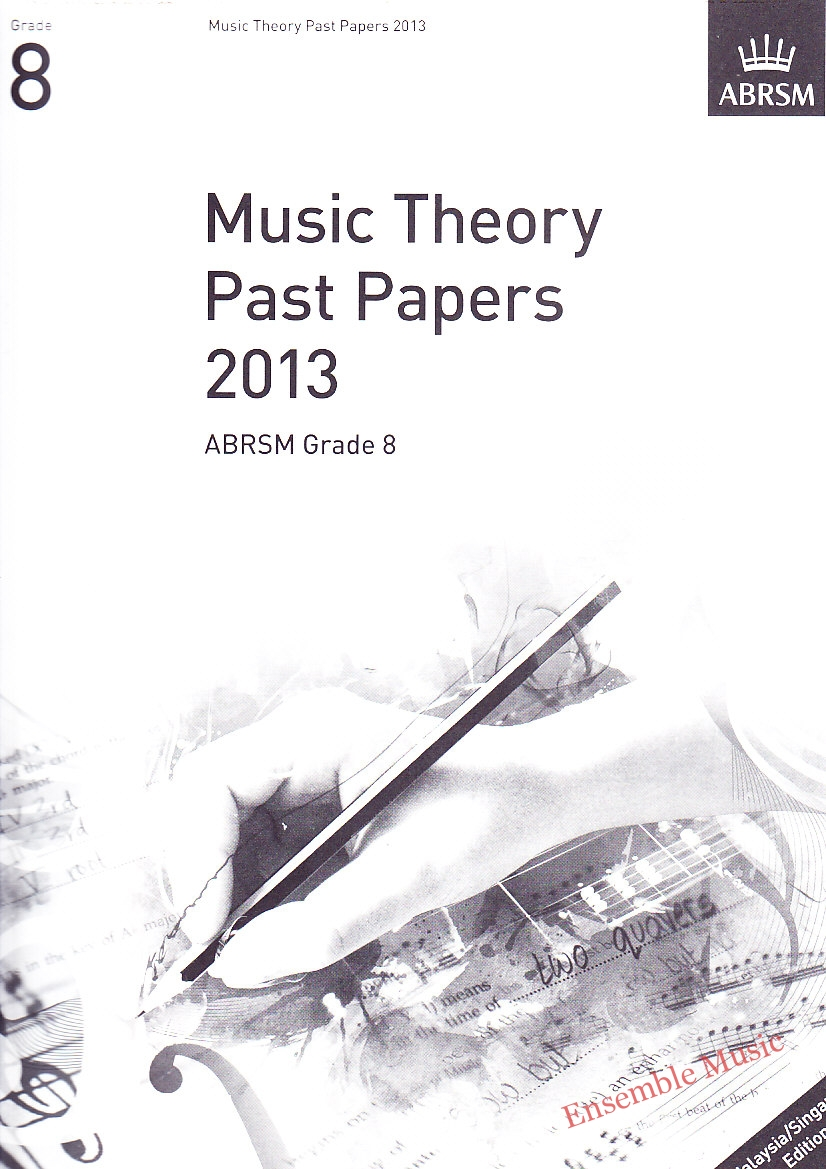 Music Theory Past Papers 2013 Gr 8