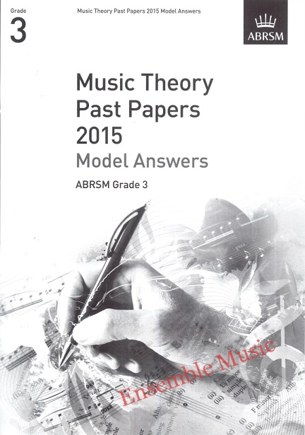 Music Theory Past Papers 2015 Gr 3 model anwers