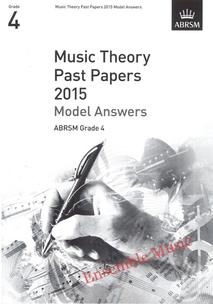Music Theory Past Papers 2015 Gr 4 model anwers