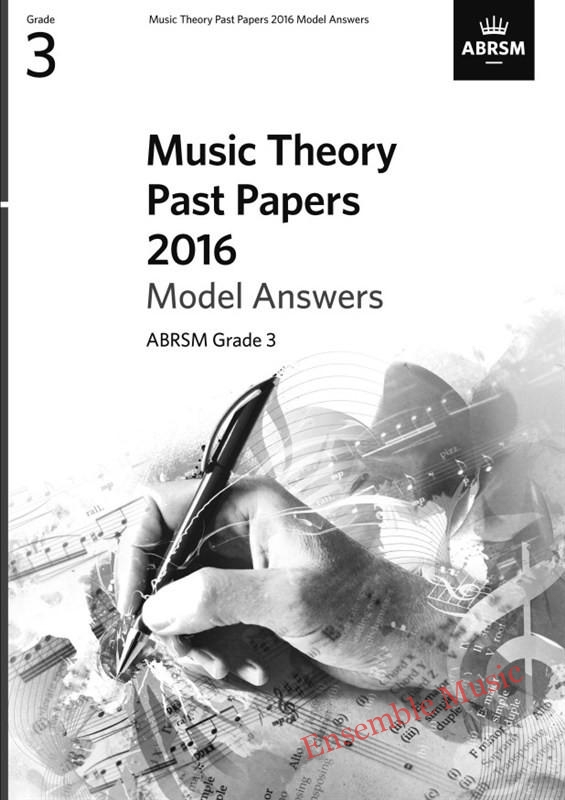 Music Theory Past Papers 2016 Gr 3 model anwers