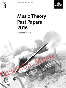 Music Theory Past Papers 2016 Gr 3
