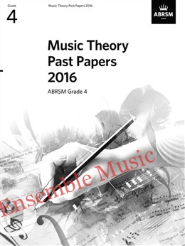 Music Theory Past Papers 2016 Gr 4