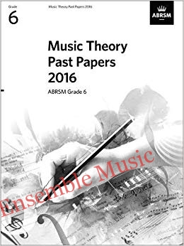 Music Theory Past Papers 2016 Gr 6 model anwers