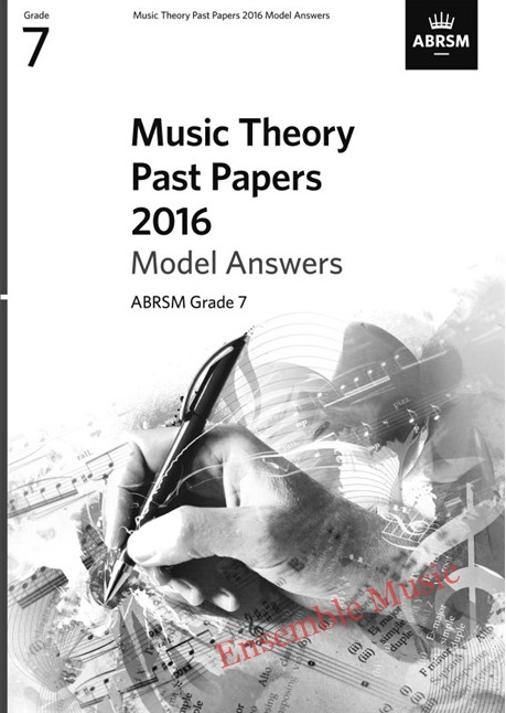 Music Theory Past Papers 2016 Gr 7 model anwers
