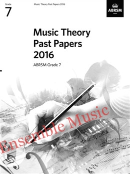 Music Theory Past Papers 2016 Gr 7