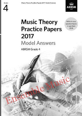 Music Theory Past Papers 2017 Gr 4 model anwers