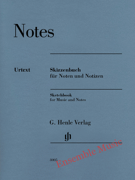 Notes Sketchbook for Music and Notes