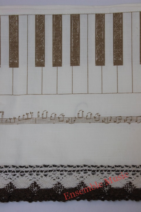 Piano Key Cover with Lace new