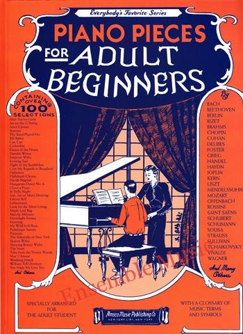 Piano Pieces for Adult Beginners Everybody Favorite Series
