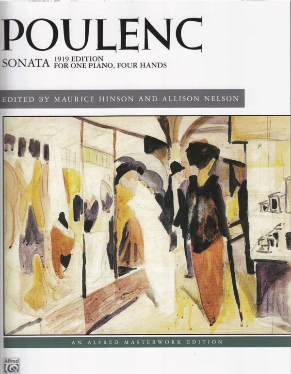 Poulenc Sonata 1919 Edition For One Piano Four Hands