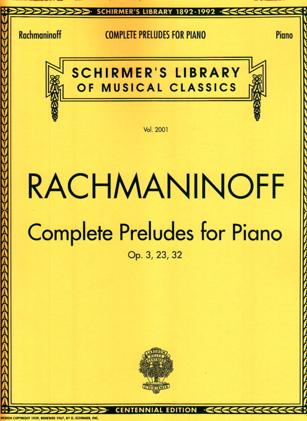 Rachmaninoff Complete Preludes For Piano Op. 3 23 32