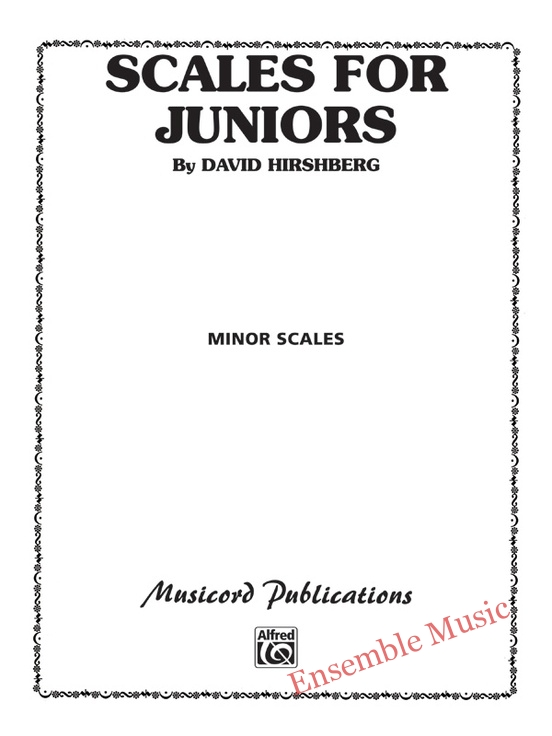 Scales for juniors minor scales