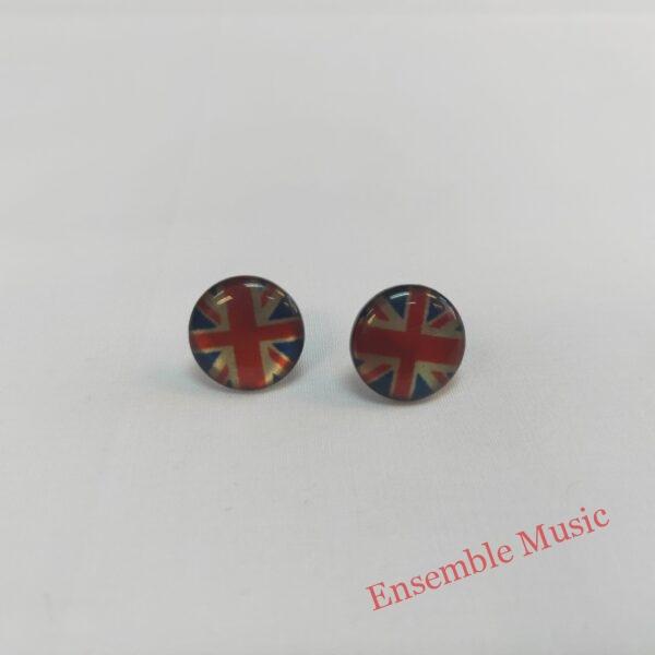 Small Stud Earring UK Flag scaled 1