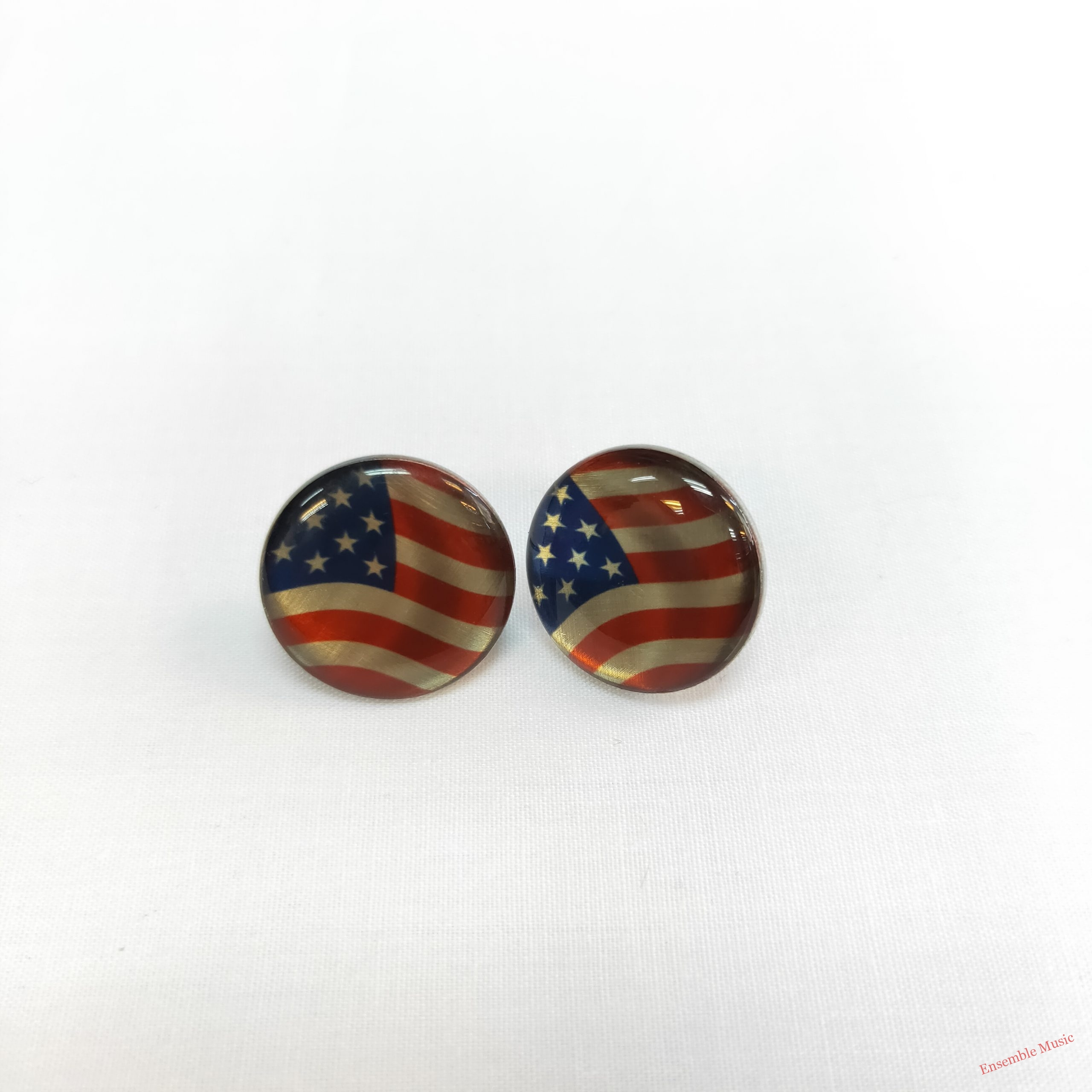 Small Stud Earring USA Flag scaled 1