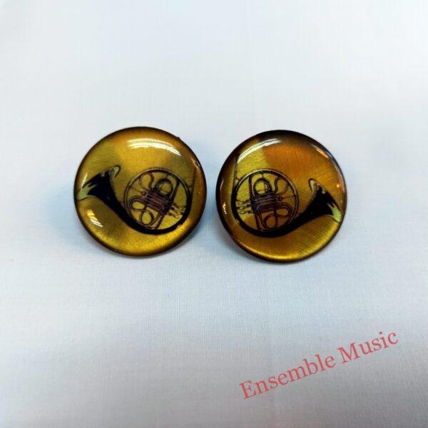 Stud Earring Trombone scaled 1