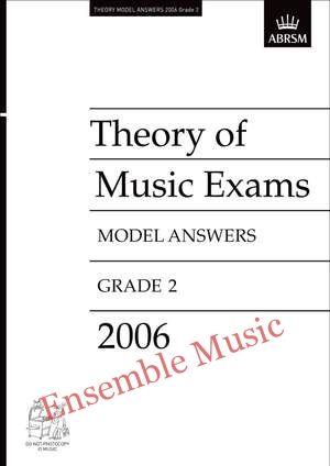 Theory model answers 2006 G2
