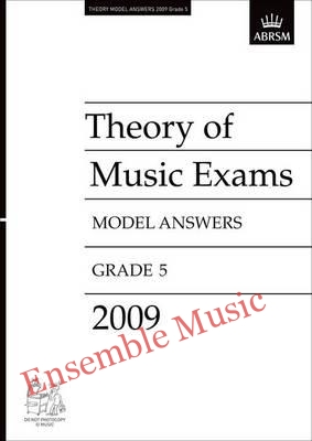 Theory model answers 2009 G5