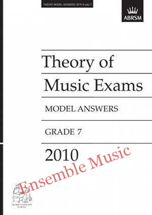 Theory model answers 2010 G7