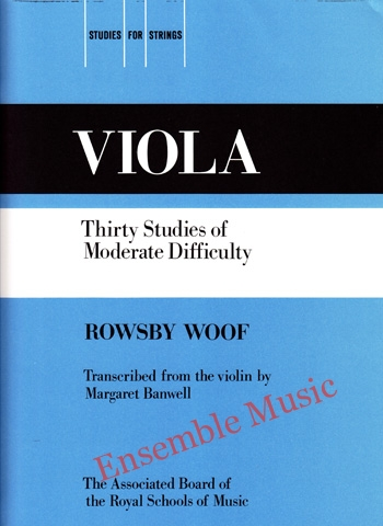 Viola Thirty Studies of Moderate Difficulty