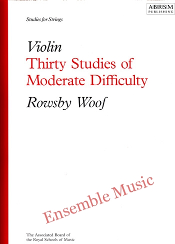 Violin Thirty Studies of Moderate Difficulty