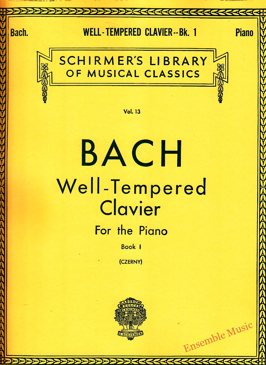 bach well tempered clavier for the piano book 1
