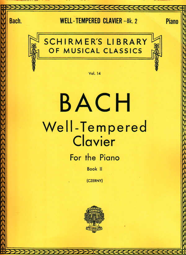 bach well tempered clavier for the piano book 2
