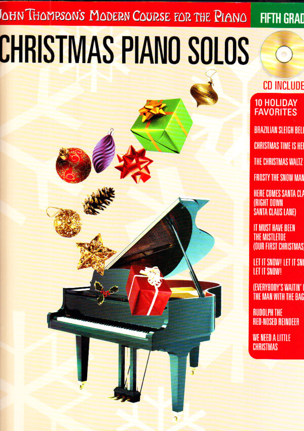 christmas piano solos fifth grade CD