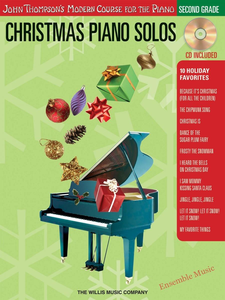 christmas piano solos second grade CD