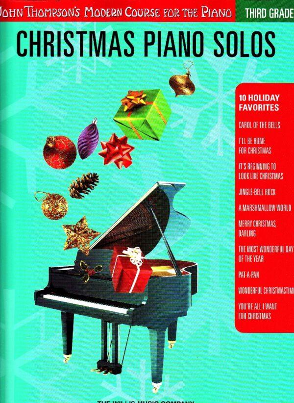 christmas piano solos thrid grade
